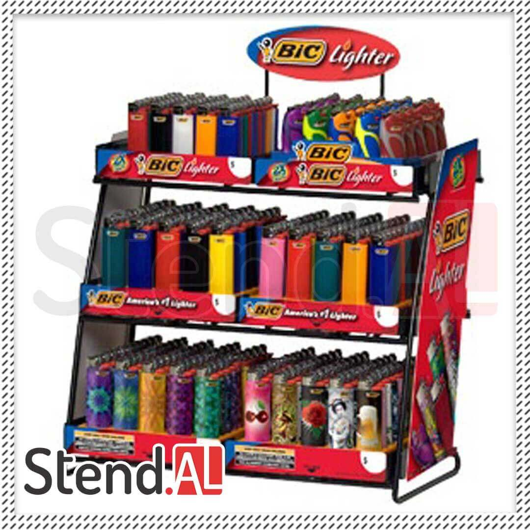Bic Lighter Display And Stand Nastolniy Displey V Baku Metal Stend Sifarishi